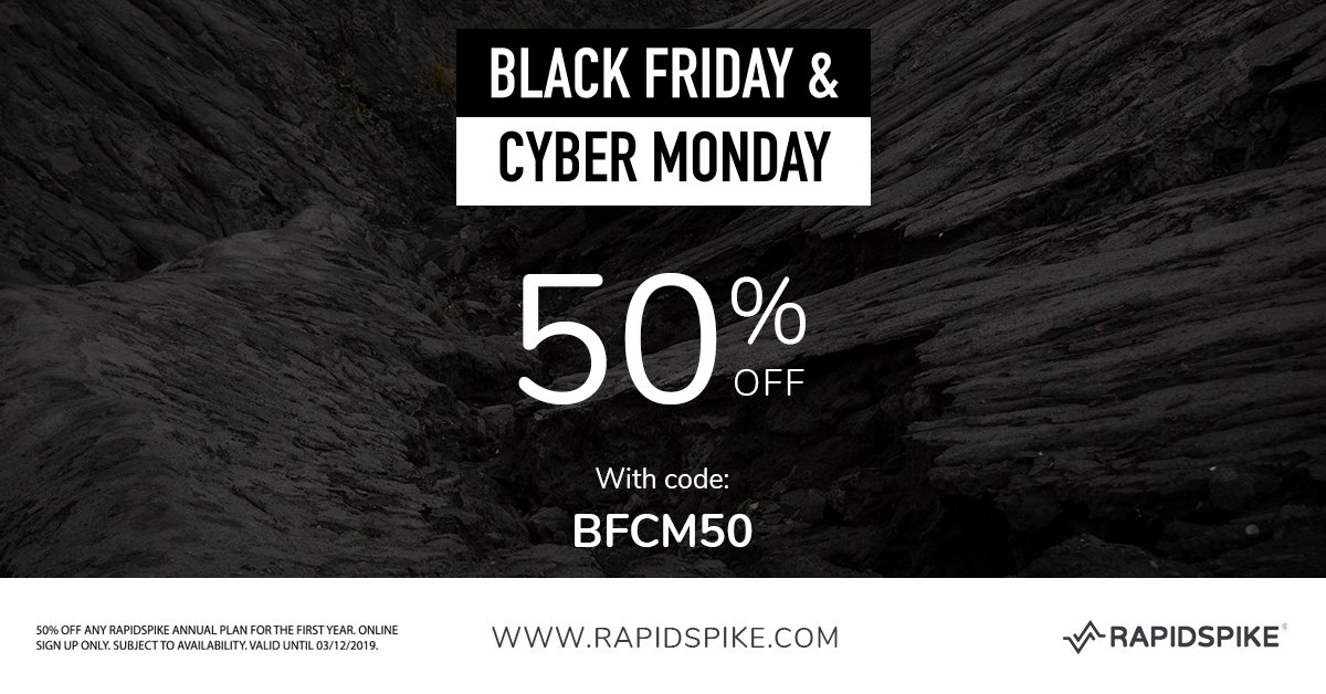 Rapidspike On Twitter It S The Week Of Black Friday Cyber Monday Is Your Site Ready We Still Have A Limited Number Of Accounts Available With 50 Off Claim Yours Before They