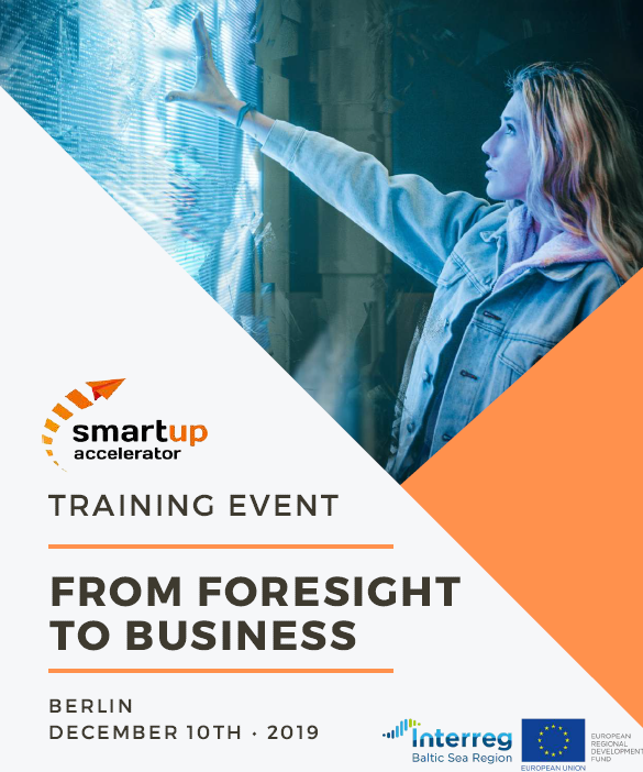 How about learning more how to identify arising new trends in business, checking on foresight methods in business and exploring the #MadeWithInterreg Smartup Accelerator model by @smartupacc? Sign up for the training! #BSR #Interreg #innovation #cleantech
