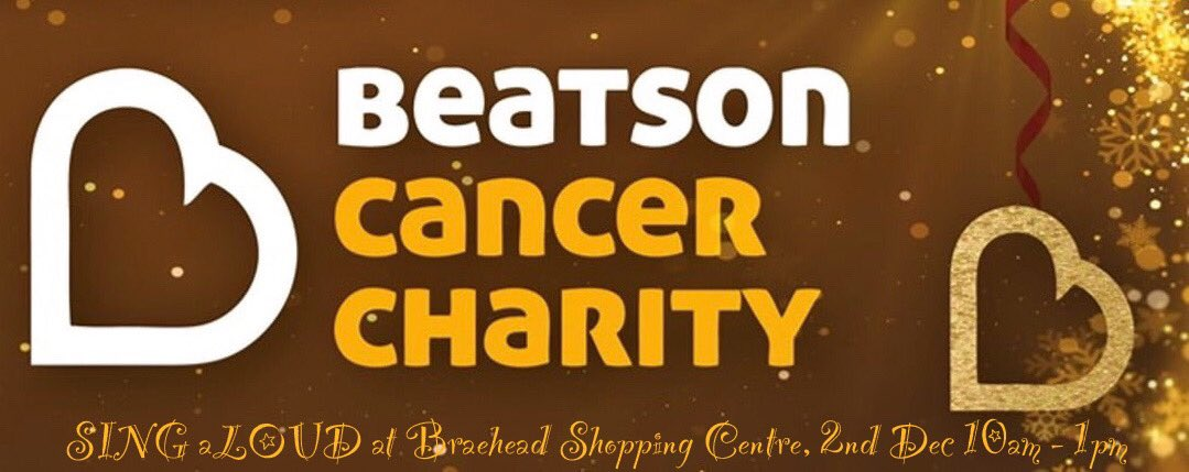 A week today on Monday 2nd December, I'll be taking over 100 of my amazing SING aLOUDers to @intuBraehead Shopping Centre, to bring some festive song and fun to shoppers - all in aid of @Beatson_Charity! 10am to 1pm 😁🎄💛 #justsing #teambeatson #BePositive #glasgow #christmas