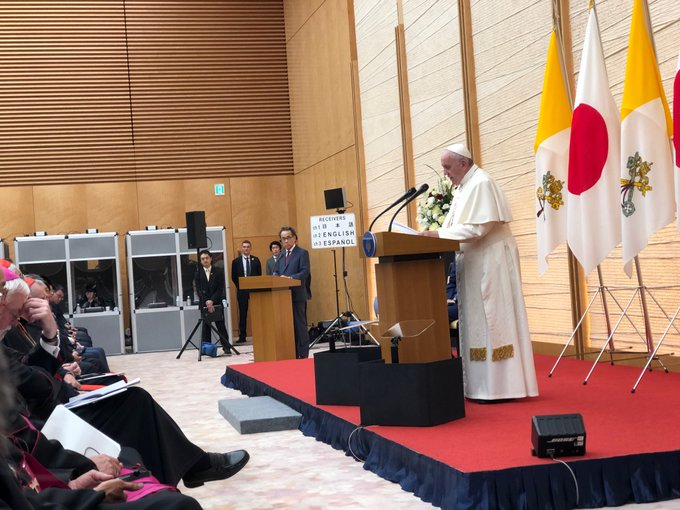 El Papa, en su discurso a las autoridades japonesas