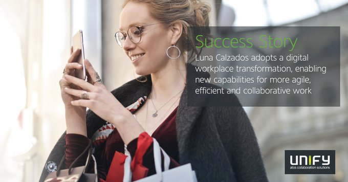 Unify and @TelefonradD consolidate and streamline Luna Calzados' communications...