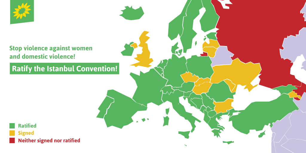 On the International Day for the Elimination of Violence Against Women we demand that all European countries sign and ratify the #IstanbulConvention: a human rights treaty to prevent and combat violence against women and domestic violence. #ENDviolence