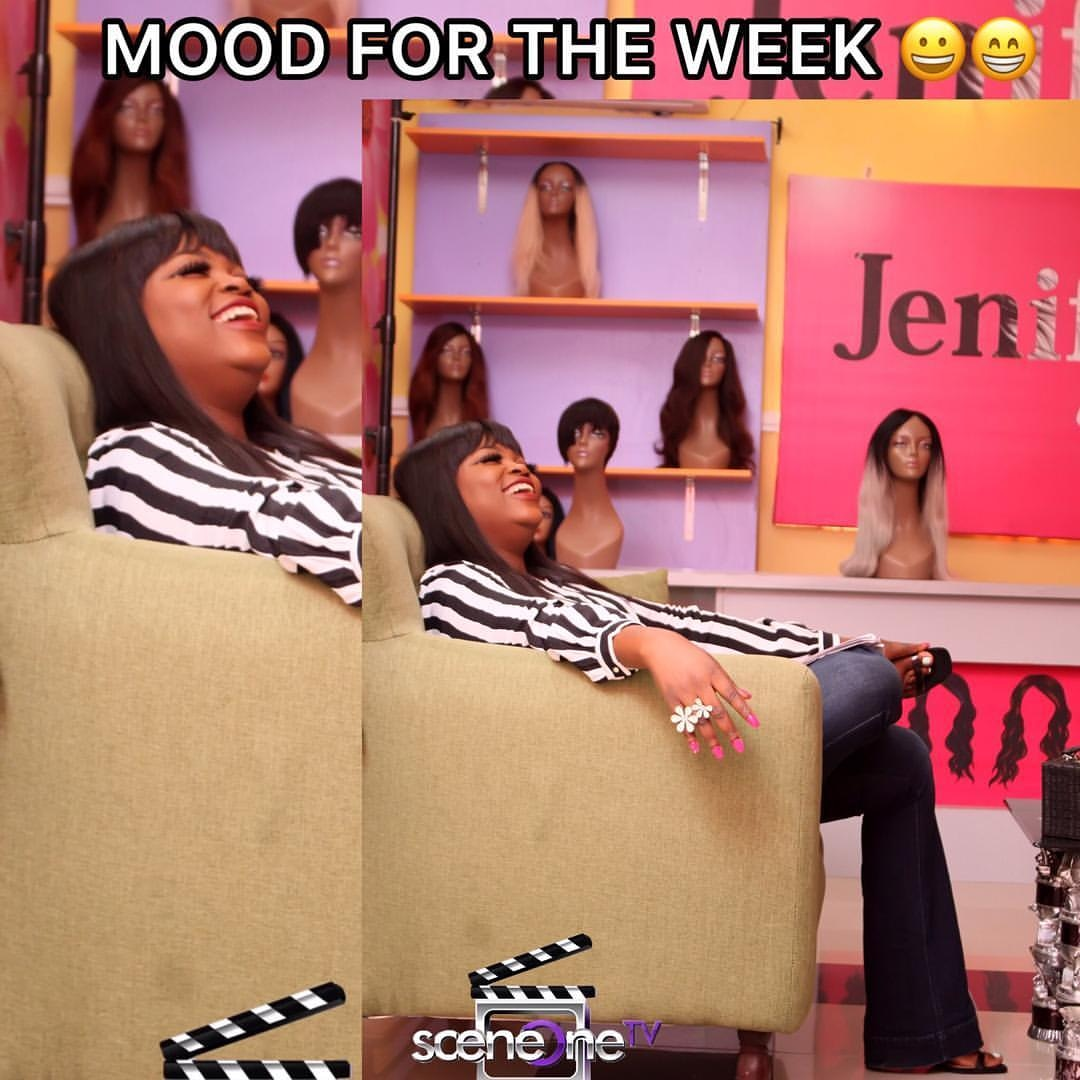 Our Mood for the week💃🤣... Seen all new episodes of #jenifasdiary? Visit  to watch now! Don't forget to download the app for easy access on the go! 💃  Available on IOS and ANDROID DEVICES 😁🔥.  #jenifasdiary #sceneonetv #sceneoneproductions #funnyseries