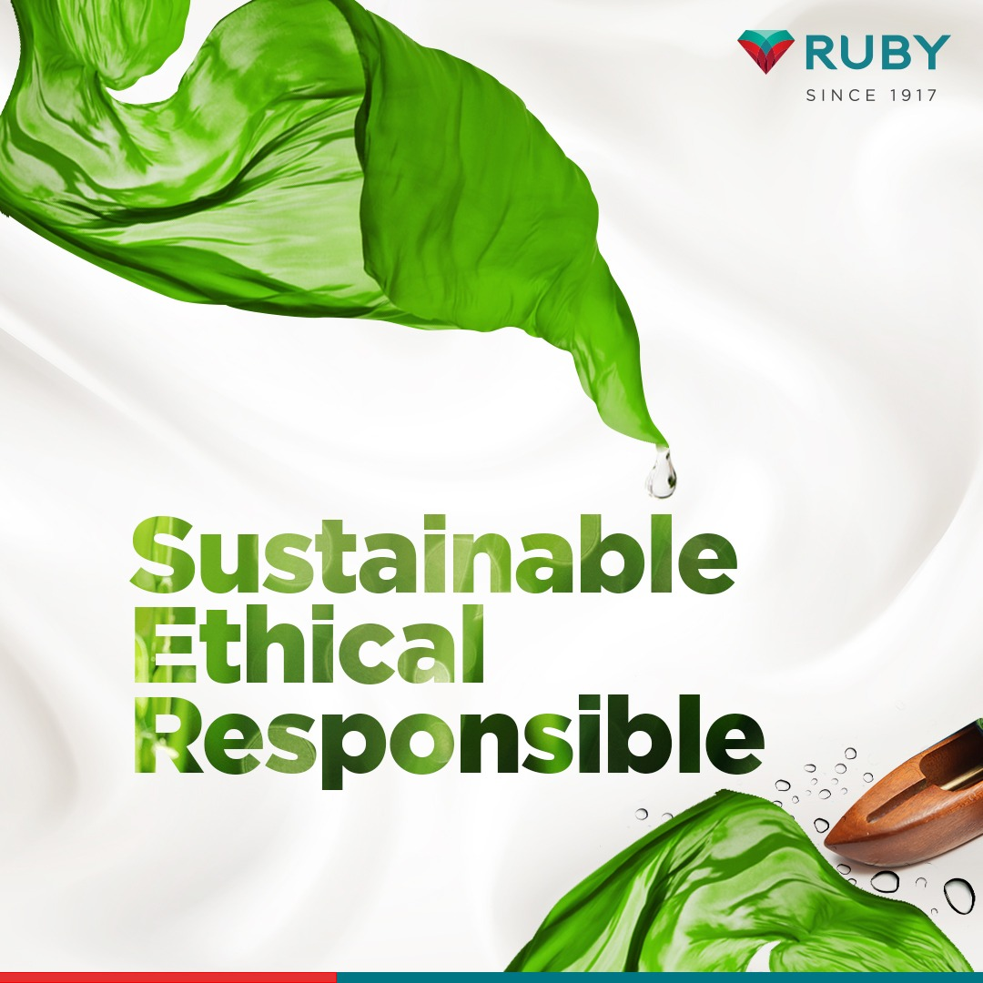 We're cut from the same cloth as every individual who puts responsible living, sustainability and ethics at the apex of their practices. These ethos propels us forward.  #ATouchOfRuby #ACutAbove #TheRubyMills #Ruby #Mills #Textile #TextileMills #Expertise #Qualitypic.twitter.com/qfdOonmnaT