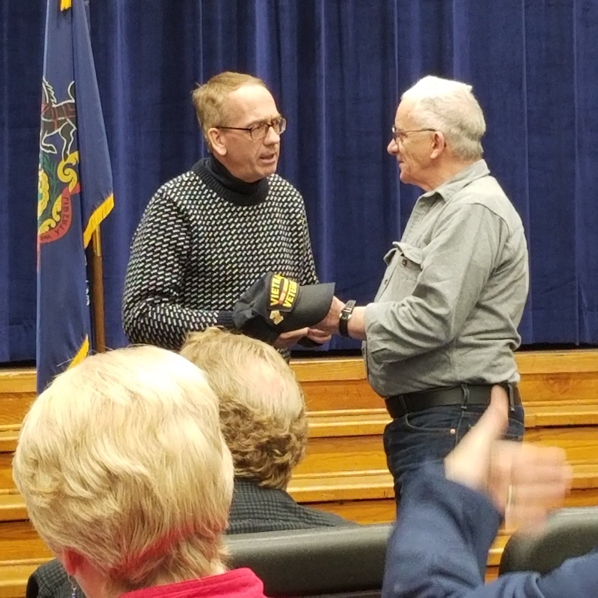 I was honored to recently take part in a pinning ceremony for Columbia County Vietnam veterans with Rep. Millard.