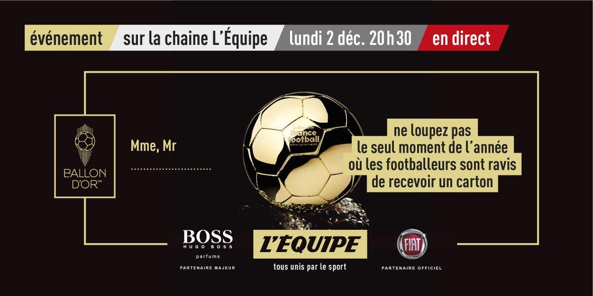🖐✌️ J-7 avant la cérémonie du #ballondor @francefootball ! Rendez-vous à partir de 20h30 lundi prochain pour suivre la cérémonie en direct du Théâtre du Chatelet !