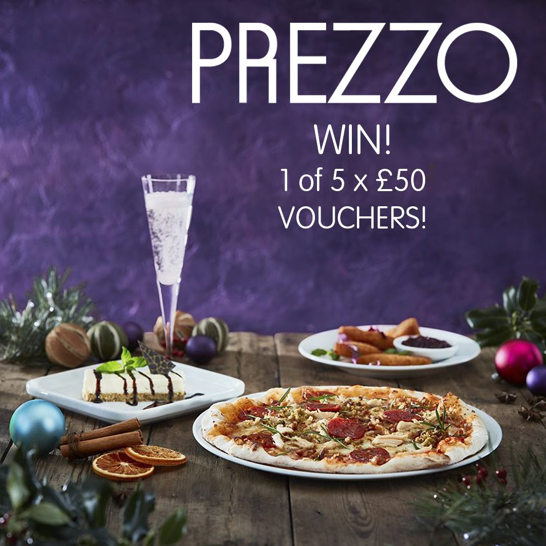 We have 5 x £50 Prezzo vouchers up for grabs! 🍝