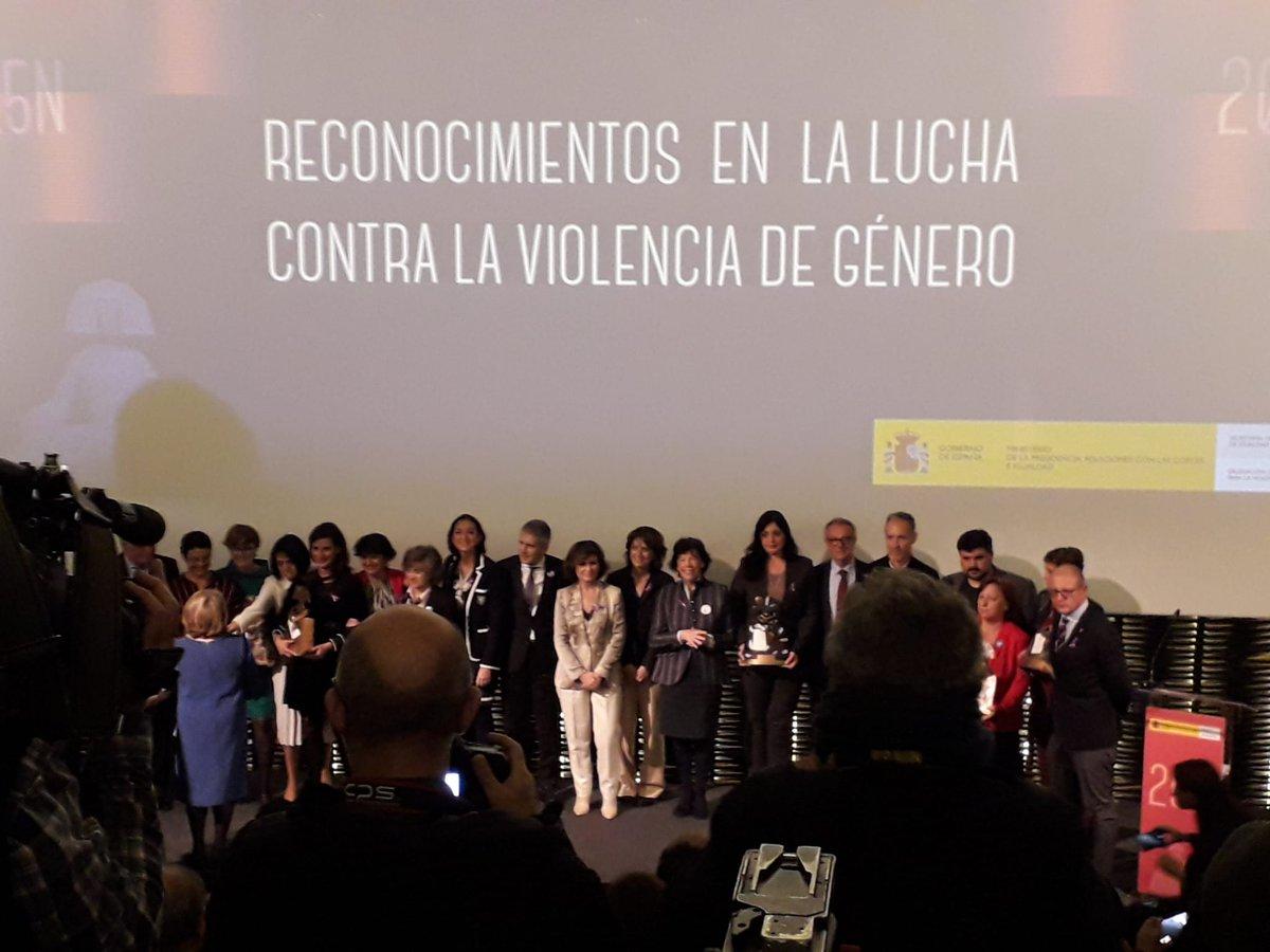 Enhorabuena Concha Velasco; Casa Malva; Skolae @MariaChivite_na; Jauría @Jordi_Casanovas; @amelia_tiganus; @MedicosdelMundo ; @EFEnoticias ; @rtve #reconocimientos @M_Presidencia @carmencalvo_ @DelGobVG #diacontralaviolenciadegenero #25Noviembre #NiUnaMas #ViolenciaMachista
