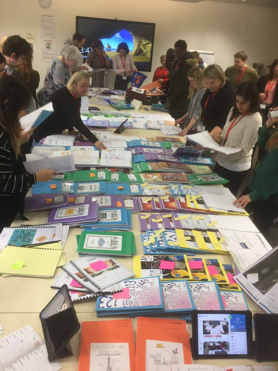 My favourite staff meeting.  Staff showcase and celebrate the work of their children. A great chance to share best practice and steal great ideas! #celebratework #highexpectationspic.twitter.com/rjF6gZuutZ