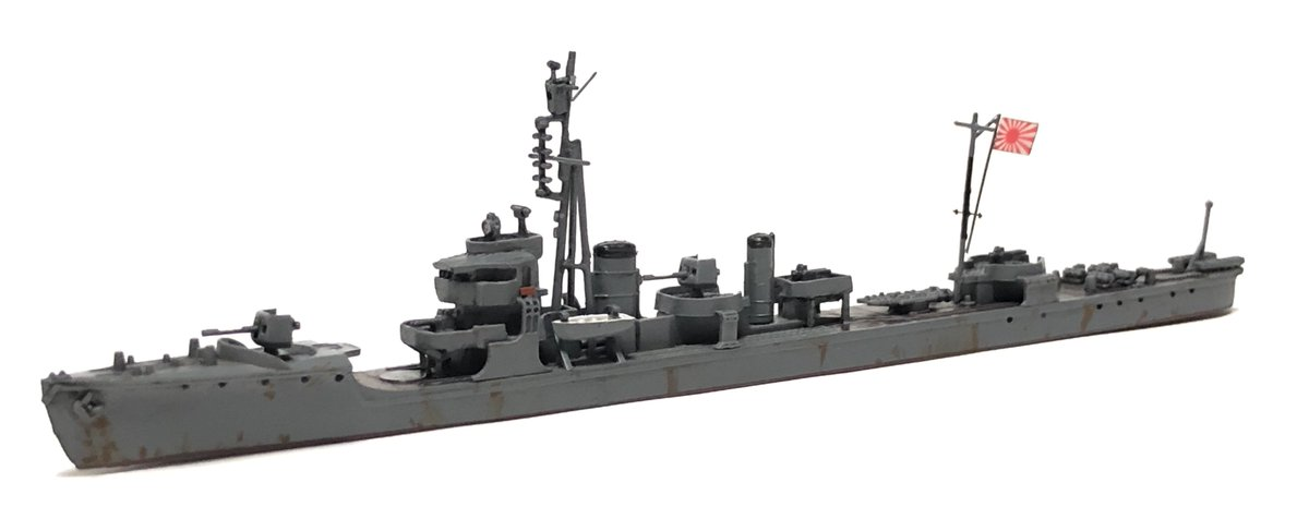 "Abrams1991 on Twitter: ""1/700 駆逐艦 朝顔1945完成しました。 豆粒 ..."