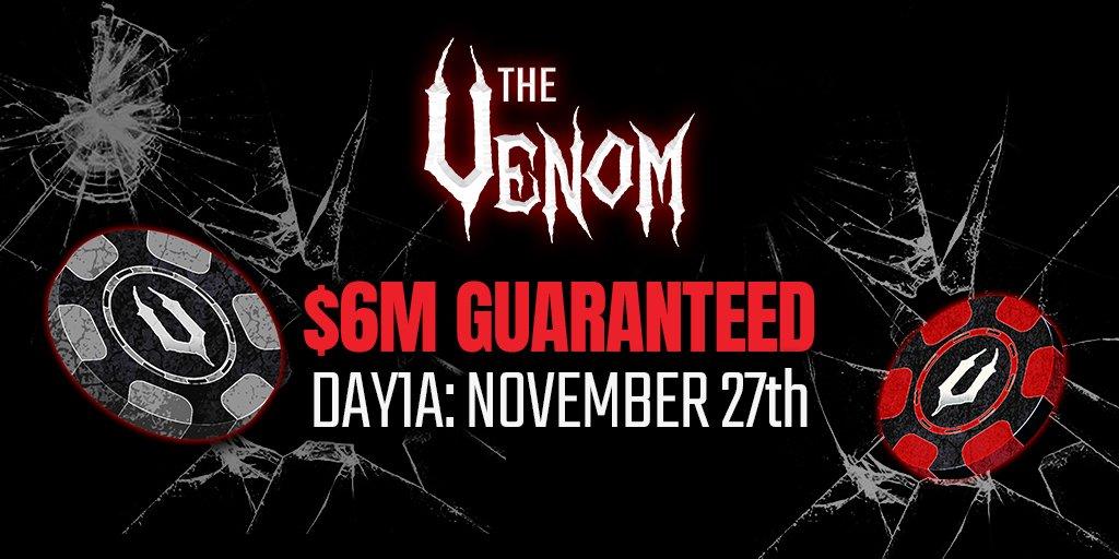 The final countdown: 2 days left until the $6M GTD Venom begins.   https://t.co/iockyXc1wi https://t.co/EsAdrGamm7