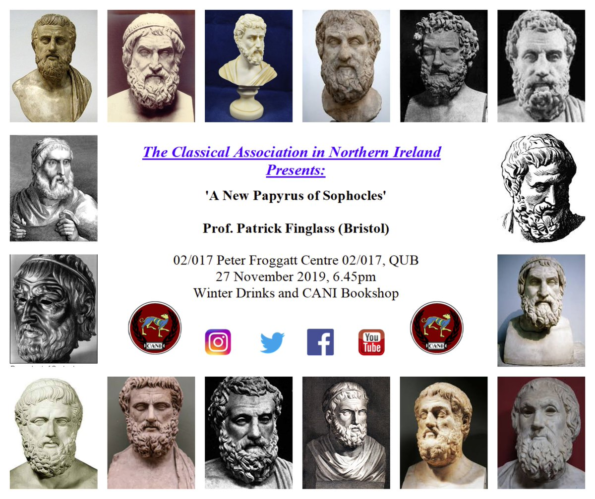 The CANI bookshop opens up again as part of Prof Finglass's Sophocles talk this Wednesday. Books on #classics #classicalphilosophy #classicallanguages #ancienthistory #lateantiquity will be available for purchase (along with one or two other ancients...)pic.twitter.com/gkKPtndGXo