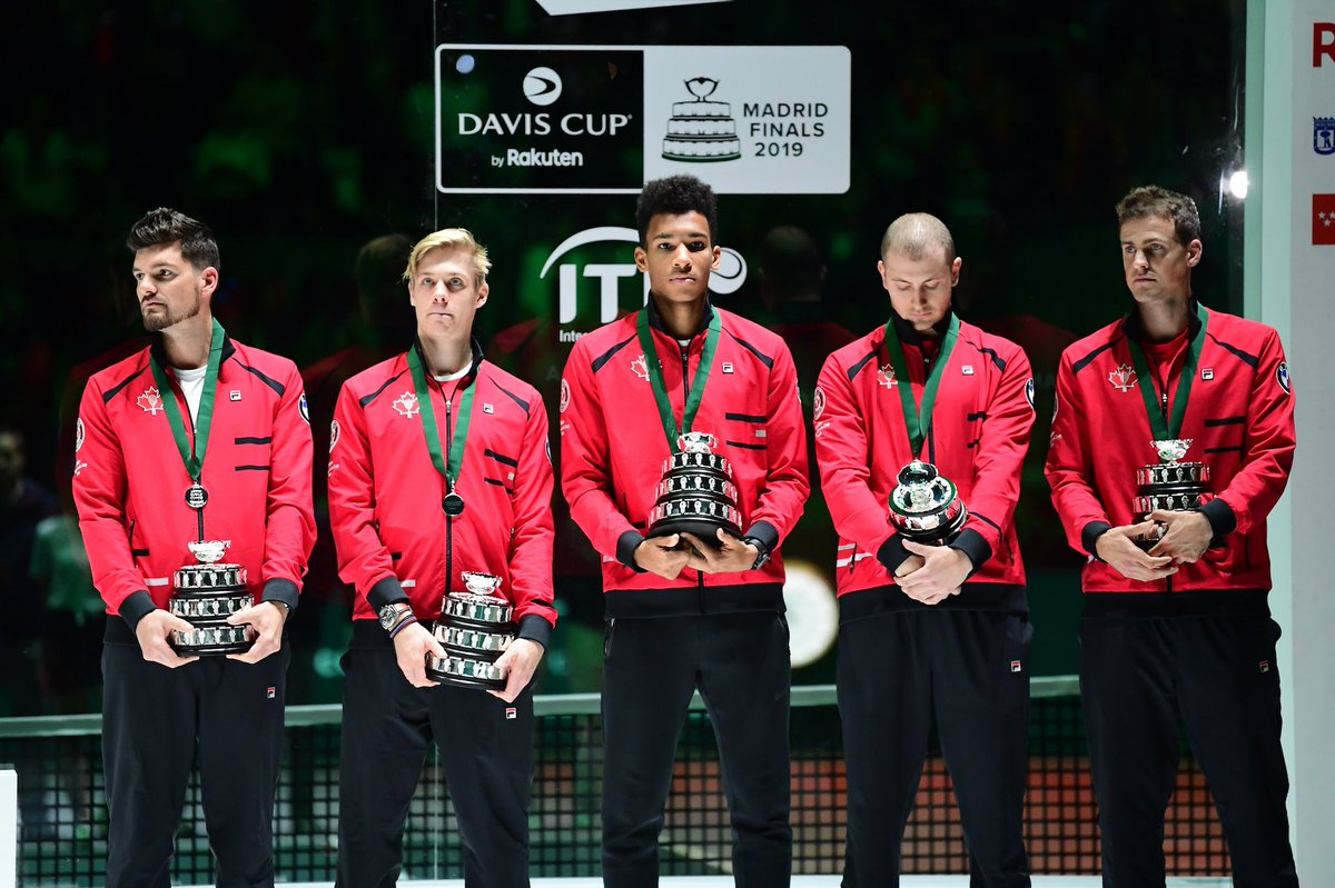 2019 runners-up   See you next year @TennisCanada  #DavisCupMadridFinals #byRakuten <br>http://pic.twitter.com/8wGMLovcw1