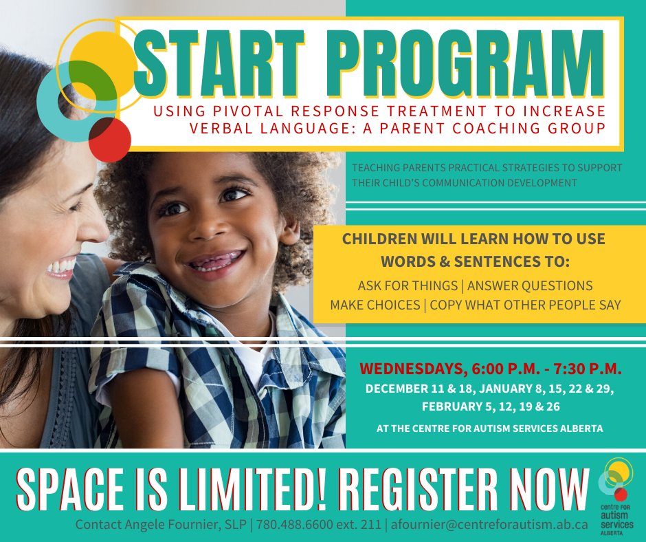 Only 3 spots left in our upcoming Start Program! This group coaching program for parents is designed for early language development in children w ASD, 2-8. You'll learn practical strategies to support your child's communication skills & more. Register now!