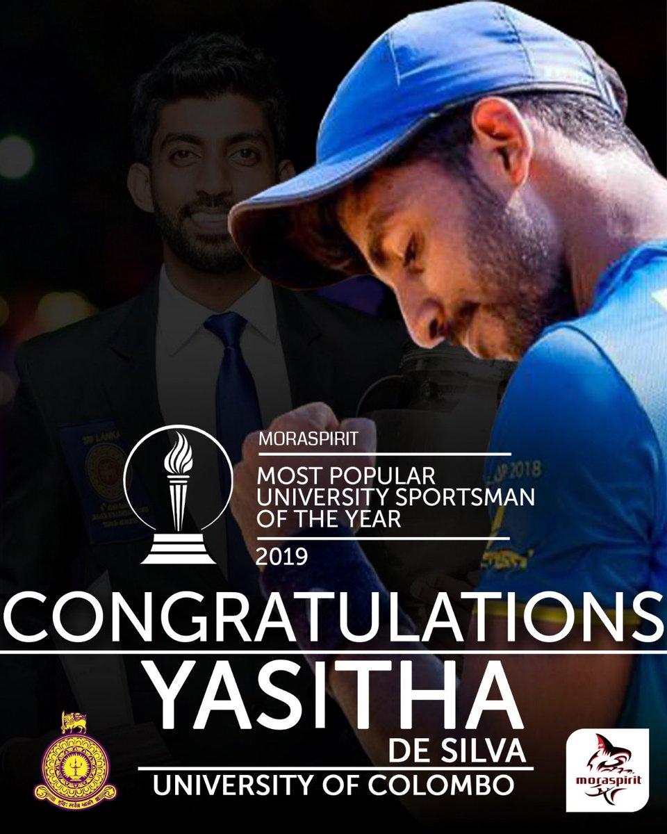 Congratulations to Yasitha De Silva of University of Colombo, our Most Popular University Sportsman of the year!  #MoraSpirit  #Empowering_University_Sports #Most_Popular_University_Sports_Star https://t.co/ybKNxHofdG