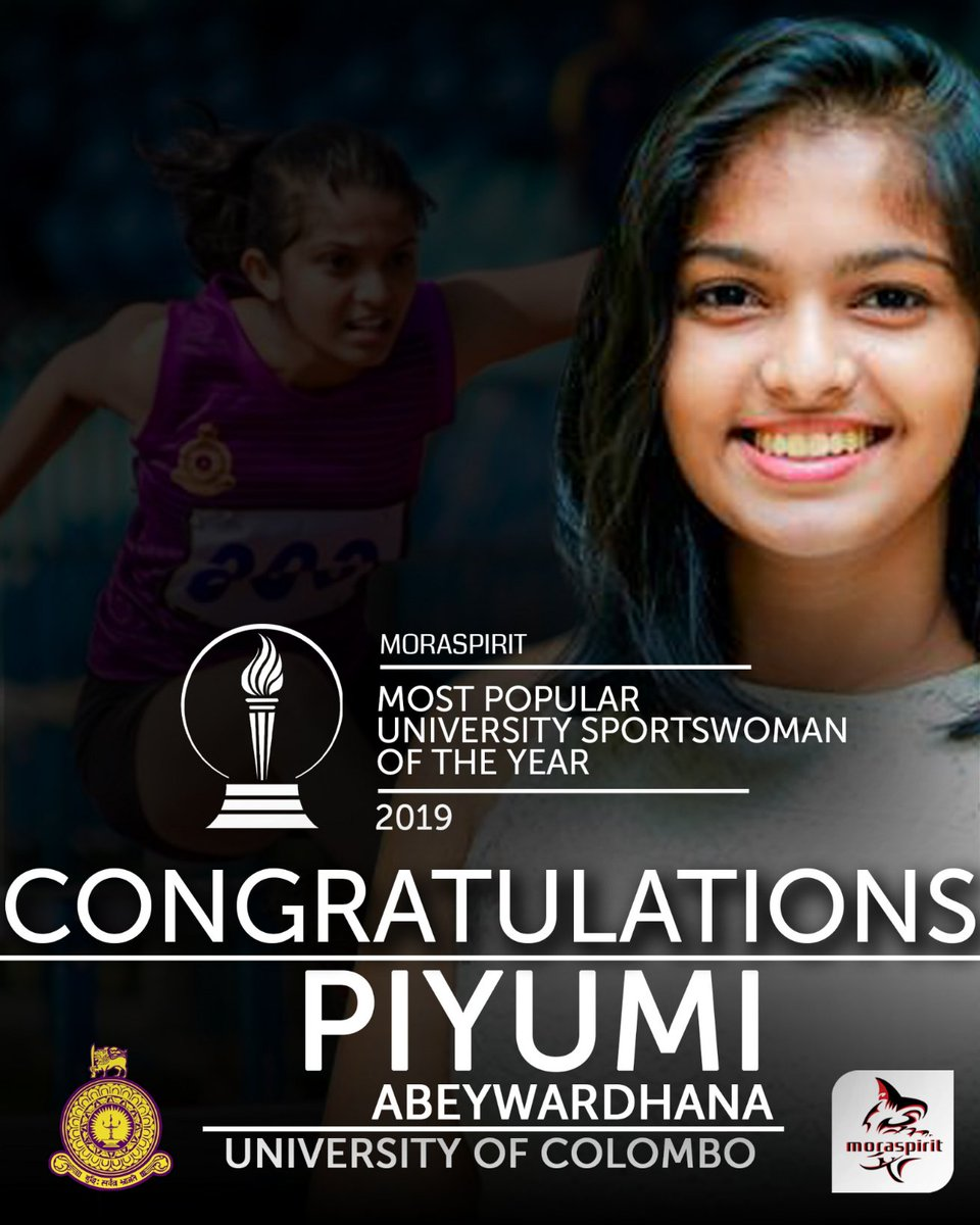 Congratulations to Piyumi Abeywardhana of University of Colombo, our Most Popular University Sportswoman of the year!  #MoraSpirit  #Empowering_University_Sports #Most_Popular_University_Sports_Star https://t.co/fTC2tO6FY8