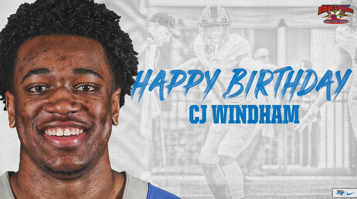 RT to wish CJ Windham a Happy Birthday!! 🥳🎉🎂 #BlueRaiders | #MT | #HappyBirthday