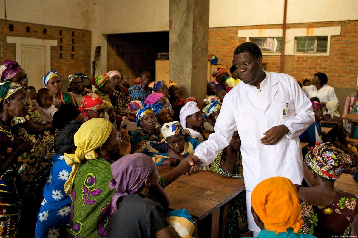 2018 Peace Laureates Denis Mukwege and Nadia Murad are working to end sexual violence in war. Mukwege set up Panzi Hospital to help victims of sexual violence while Murad has courageously shared her own sufferings and spoken up on behalf of other victims. #orangetheworld