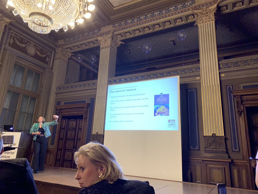 .@MazzucatoM advises #SMEenvoys to rethink the approach to promoting innovation: move away from a fix-the-market approach to one focused on co-creating and co-shaping missions #SchumpeterLecture @EEPA_EU @IIPP_UCL #SMEAssembly2019pic.twitter.com/jNfQpy8ZmG