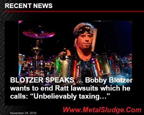 "BLOTZER SPEAKS ... Bobby Blotzer wants to end @theRATTpack lawsuits which he calls: ""Unbelievably taxing"" #BobbyBlotzer #WarrenDeMartini @StephenEPearcy #StephenPearcy #JuanCroucier @mitchlafon #Ratt @sleazeroxx2015 @MetalSludge @1On1WithMitch"