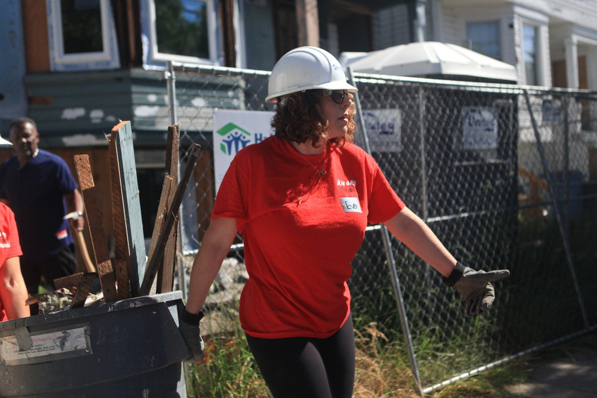 Day 3 of Give Amazing Donating our time also involves volunteering our physical strengths as a team! Lexus of Pleasanton teammates continuously puts time into building projects for the community in rebuilding houses for families. #giveamazing