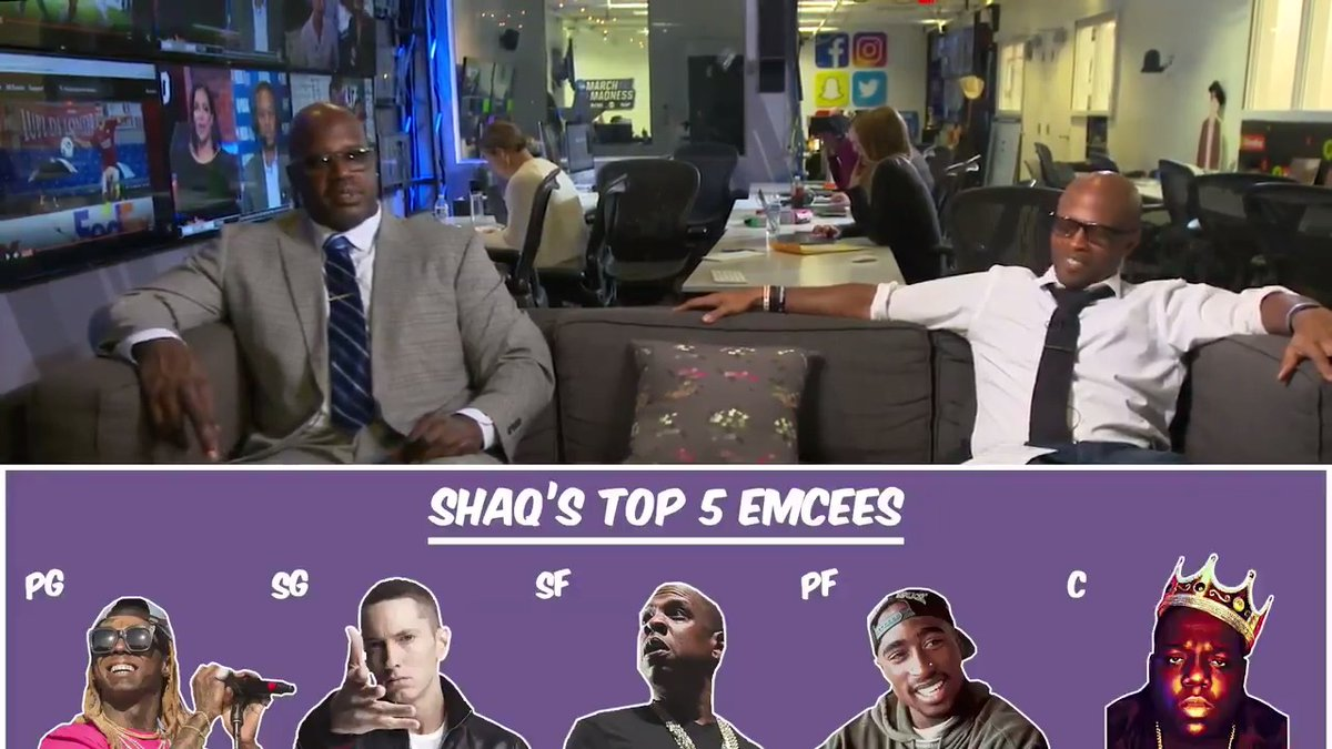 Shaq talks his rap competition with Dame, his top emcees & more in this segment of 'Storytime with Shaq' 👀📖