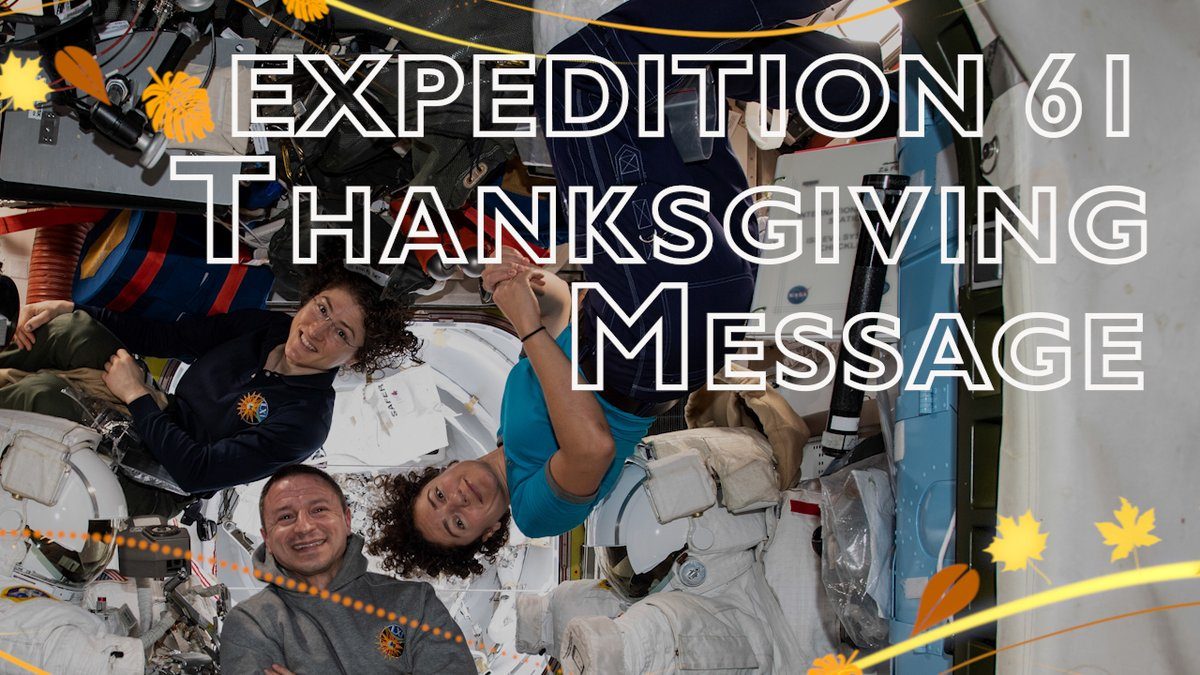 The three NASA astronauts on board the station, @Astro_Christina, @Astro_Jessica and @AstroDrewMorgan, share what #Thanksgiving means to them and get a look at what the holiday in space will be like in 2019.
