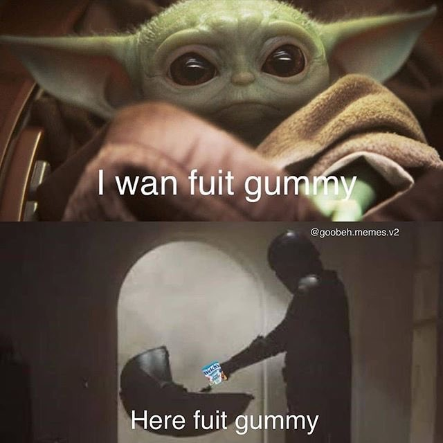 Jules On Twitter Baby Yoda Fuit Gummy Meme Is The Best Thing To Ever Happen To Me See more ideas about yoda, yoda meme, star wars memes. jules on twitter baby yoda fuit gummy