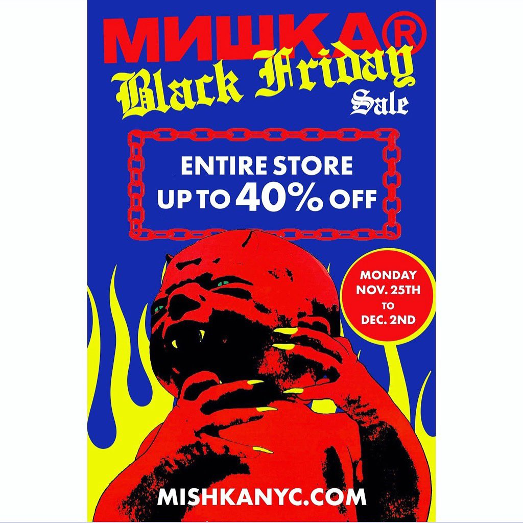 Our #BlackFridaySale is going on right now! Up to 40% off the entire site! No code needed! mishkanyc.com