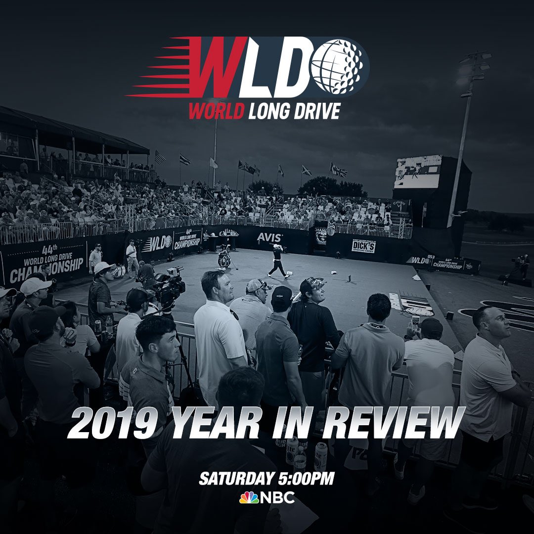 #WorldLongDrive 2019 Year in Review 📺 NBC 🗓 November, 30th ⏰ 5pm ET ////•////////////////////////////////////🏌🏼♂️