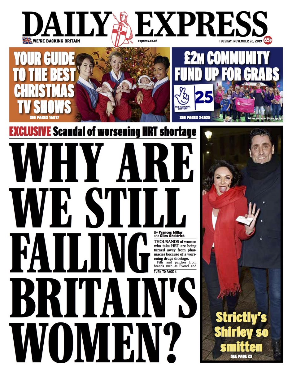 Tuesdays Express: Why are we still failing Britains women? #BBCPapers #TomorrowsPapersToday (via @AllieHBNews)