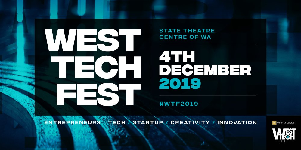 ***PROGRAM ANNOUNCEMENT*** Awesome day ahead for #WTF2019 4 December.  Check out the program here: https://www.westtechfest.com/program  Book now: https://bit.ly/2XN4GwT  #CurtinUni #ThinkPerth #CityofPerth #KPMG https://events.humanitix.com.au/west-tech-fest-2019…pic.twitter.com/WyFgTNE8ZI