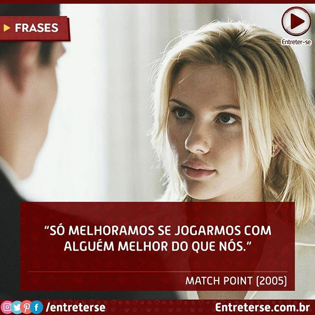 Já assitiu #MatchPoint ? . . #frases #frasesdefilmes #entreterse #filmes #series #cinema #entretenimento #instagood #likeforlike #l4lpic.twitter.com/HHrHCGIjXr