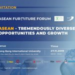 Image for the Tweet beginning: ASEAN Furniture Forum, November 27,2019,