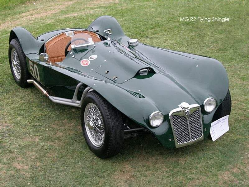 #Car 🚗 Awesome of the Day: Dark Green #Steampunk-ish ⚙️ 1954 MG R2 Flying Shingle Ken Miles #Roadster via @BenzineRacing #SamaCars