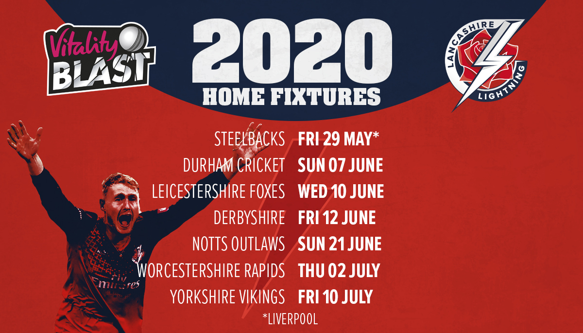 We are delighted to be hosting a @VitalityBlast blast game against @NorthantsCCC at Liverpool CC in 2020. Roll on the 29th May