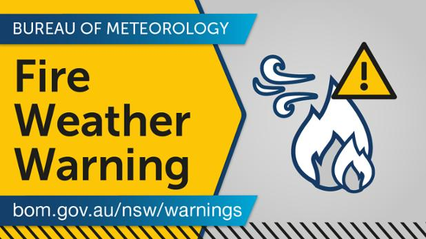 #Fire Weather #Warning has been issued for the Greater #Hunter area for Severe Fire Danger due to hot and windy conditions. Gusty thunderstorms are also moving through this afternoon with the passage of a cold front.