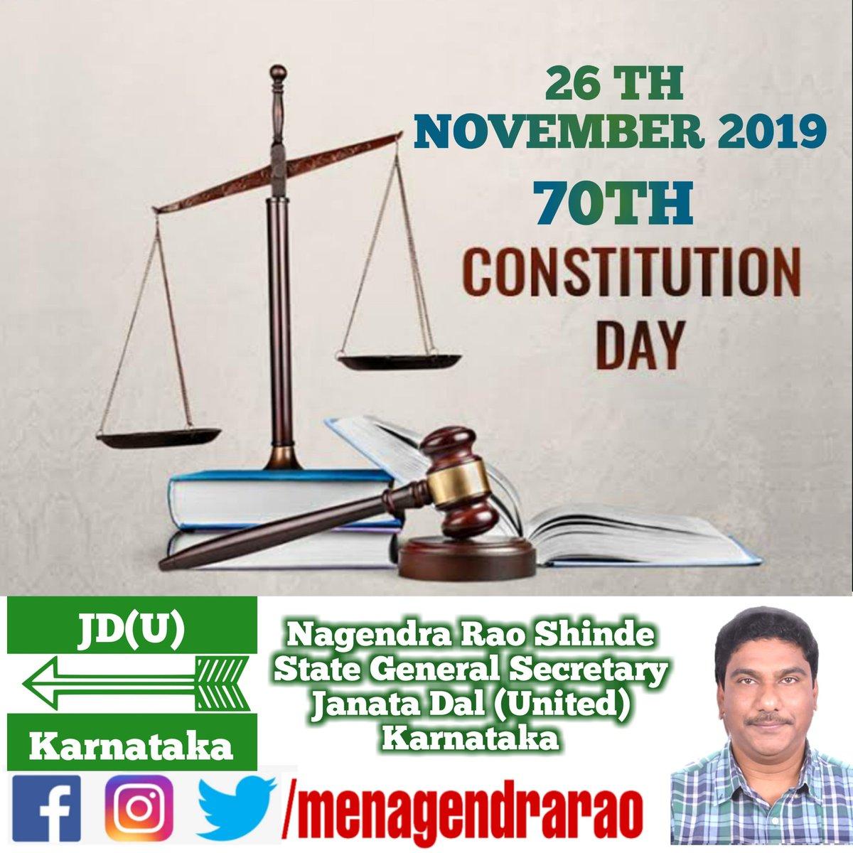 #ConstitutionDay #JDU #Karnataka @gsecretaryjdu @NitishKumar @PrashantKishor @afaquejdu @RCP_Singh @SanjayJhaBihar @JDU_India @Jduonline @KCTyagiJDU @sanjaykumarjdu https://t.co/JikLXMWtAD