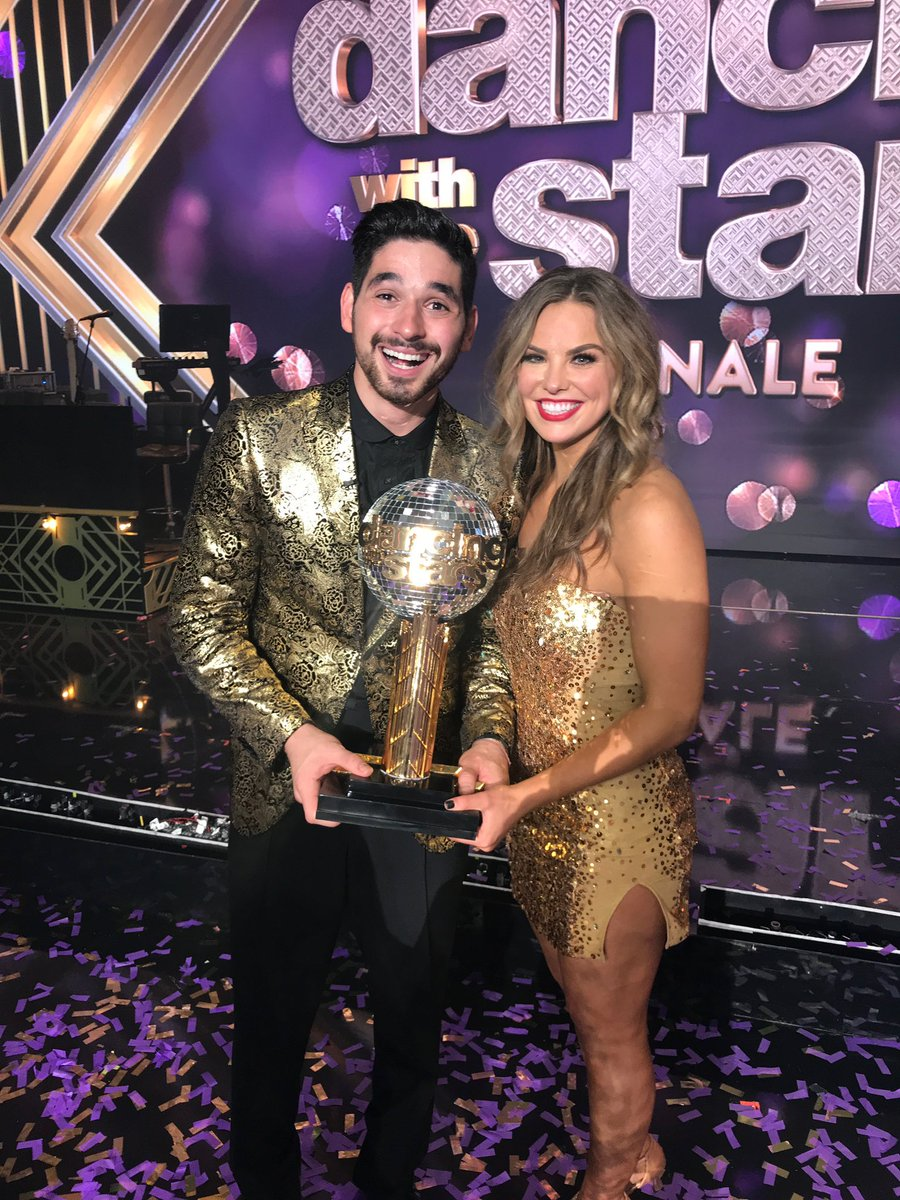 That was the most dramatic #DWTSFinale! Congratulations to @HannahBrown and @Dance10Alan on winning #DWTS! We're so proud of you! ❤️🎉
