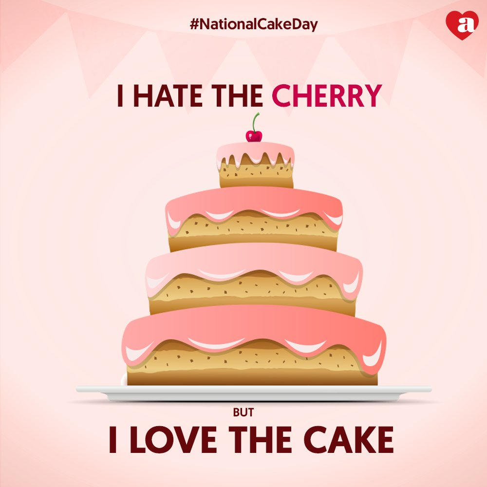 Who all hate the cherry, but love the cake NationalCakeDay ArchiesOnline Cake Cherry https t.co 7llGhOQi5U