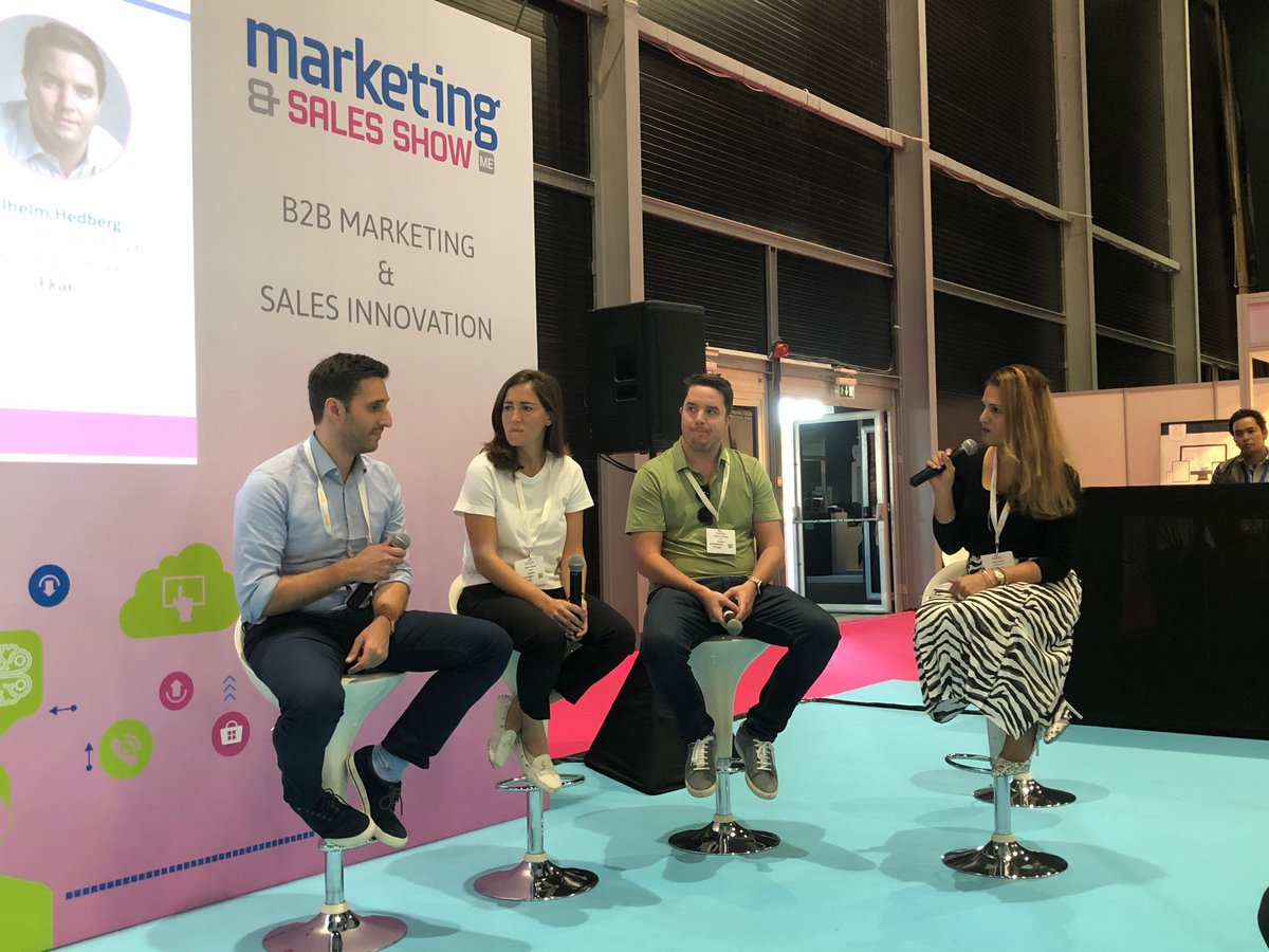 Live Panel Discussion: Speakers from  @STARZPlayArabia @insydo_DXB @helplingae @myekar discussing the power of word-of-mouth in marketing and sales. Make your way to the #B2BMarketing & #SalesInnovation conference area to learn more. #MarketingShowDXB https://t.co/4zONwlanFs