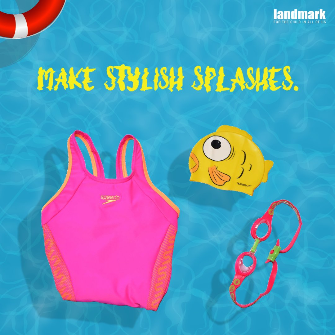 Your little one is going to love the pool even more with these stylish #swimminggears available at #LandmarkStores. #Swimming #SwimLife #LifebythePool #LifeintheWater #Swimmer #SwimmingWear #SwimmingFunpic.twitter.com/WxFa6niyry