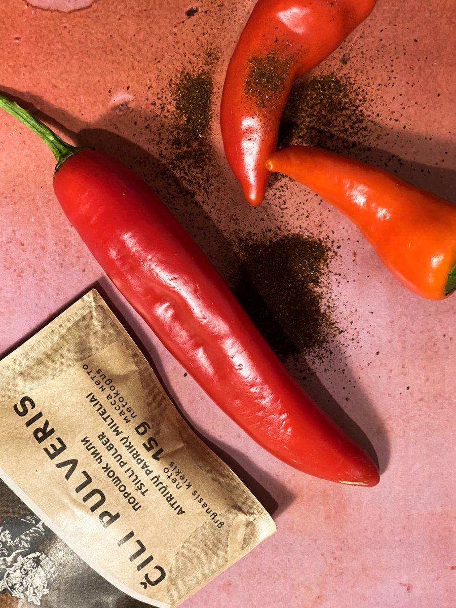 Pievienojot čili pulveri viszināmākajai receptei, ēdiena garša iegūs pavisam jaunu sajūtu gammu!   -Izmēģini- https://t.co/IuBsPIcsFX