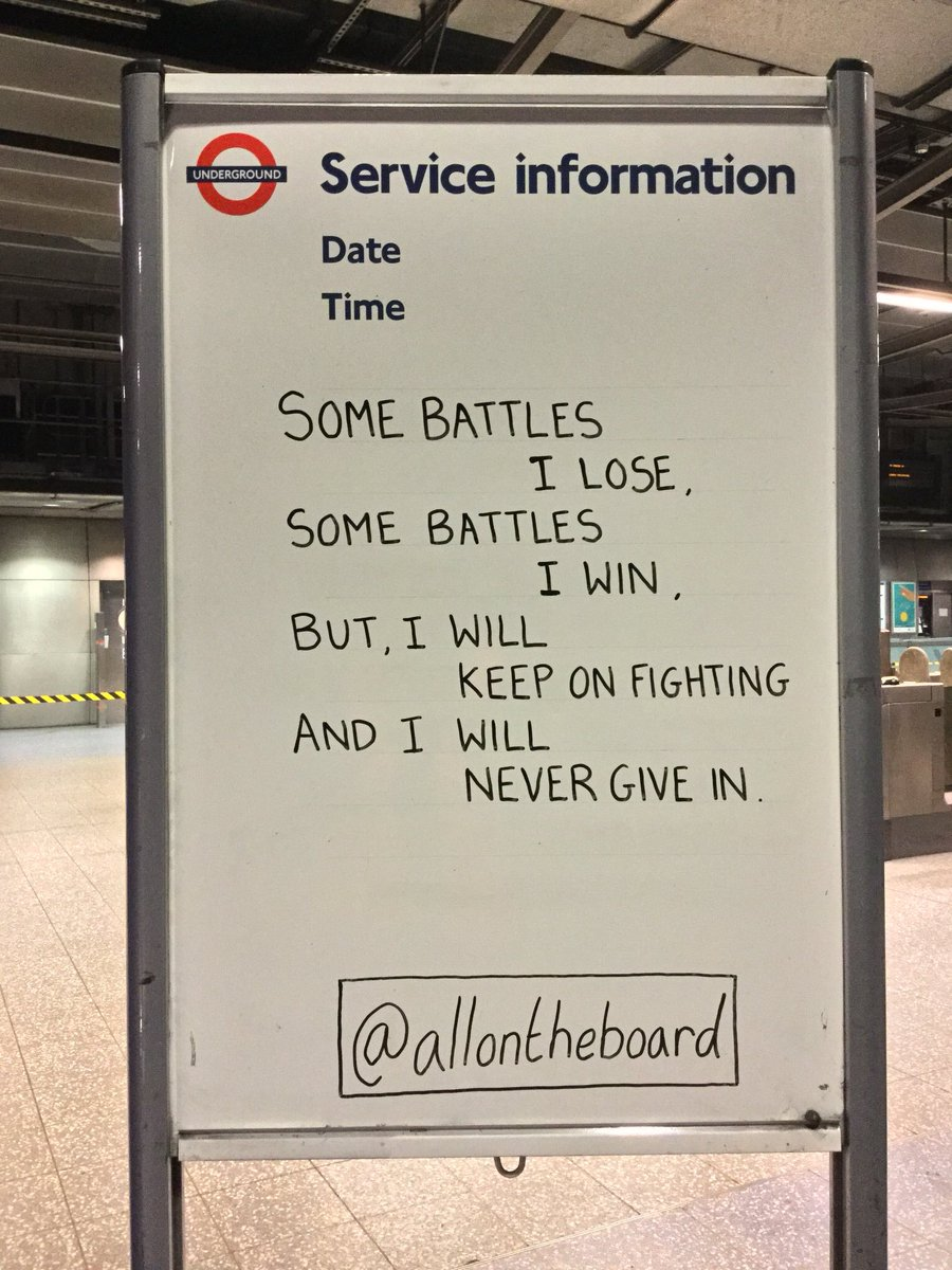 We may win battles, we may lose battles, but let's never give in. @allontheboard #You #YouMatter #MentalHealth #MentalHealthMatters #MentalHealthAwareness #Health #NeverGiveUp #NeverGiveIn #Talk #YouAreNotAlone #allontheboard