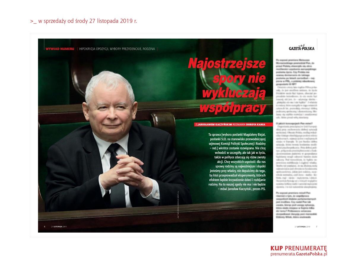 // #WYWIAD NUMERU  Koncepcja Międzymorza jest dzisiaj dużo bardziej zaawansowana niż za życia mojego śp. Brata. I to jest Jego – niestety pośmiertne – ogromne osiągnięcie.  Cały wywiad z prezesem @pisorgpl  Jarosławem Kaczyńskim w najnowszym tygodniku #GazetaPolska.  #RT