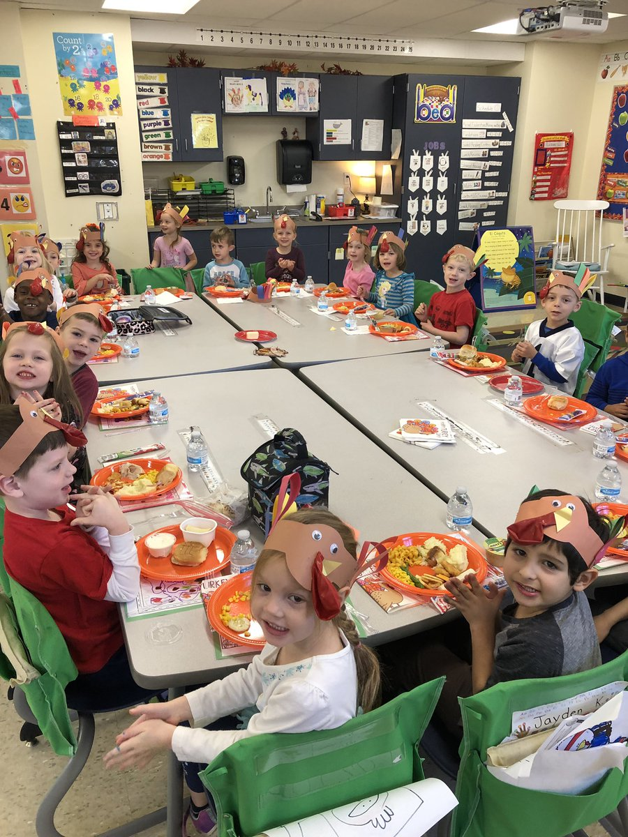 #NWElementary Kindergarteners celebrate Thanksgiving! And being grateful.