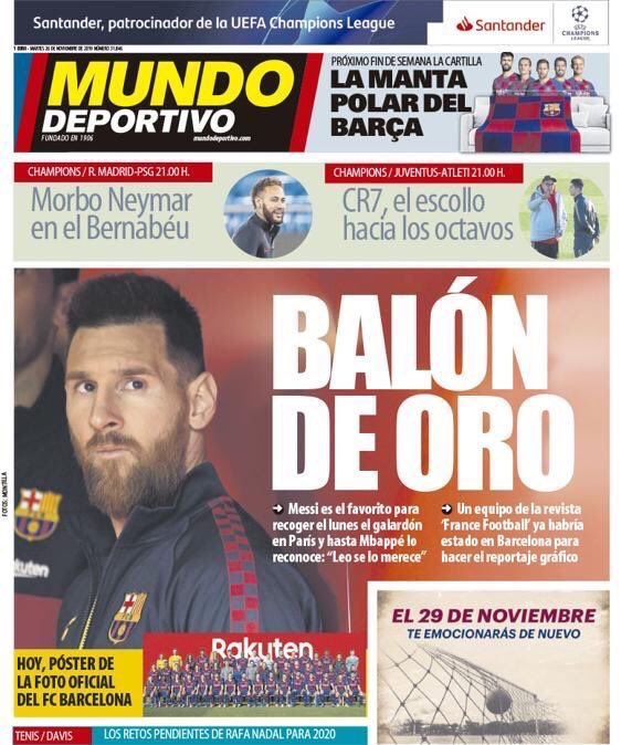 Tancredi Palmeri On Twitter Oh Oh According To Mundo Deportivo A Crew From France Football Was In Barcelona For Photoshooting With Messi As He Won Next Ballon D Or Https T Co 1cfezzmyai