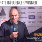 Image for the Tweet beginning: Our Corporate Influencer category was