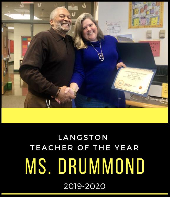 Langston's Teacher of the Year, Congrats Mrs. Drummond. <a target='_blank' href='https://t.co/x0JfjzZUAh'>https://t.co/x0JfjzZUAh</a>