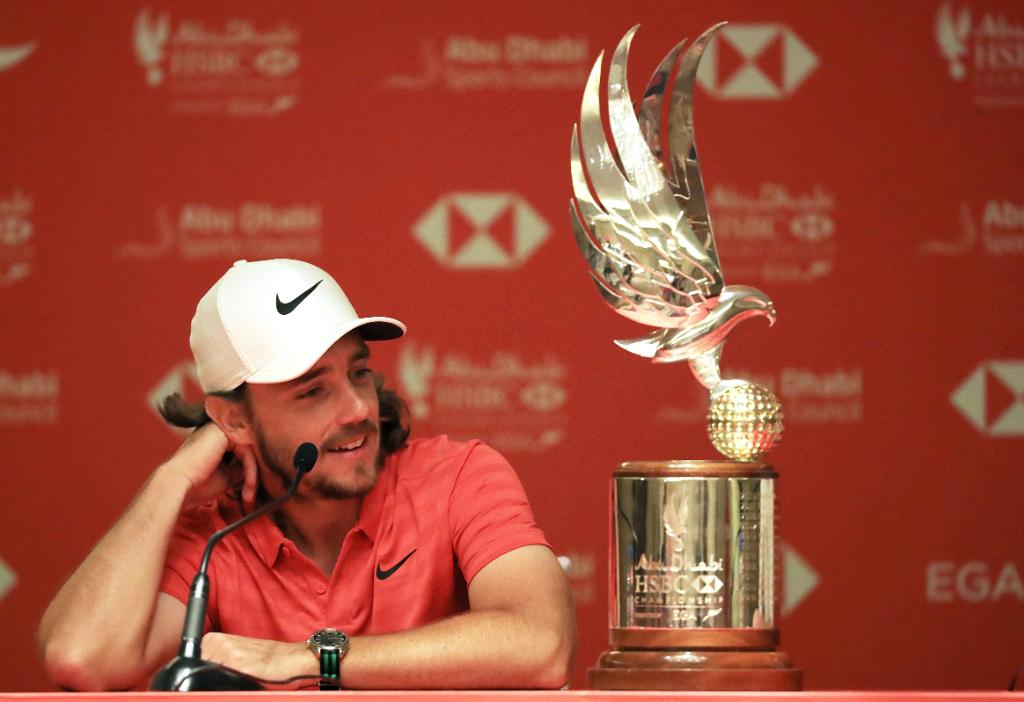 Eyeing the treble. @TommyFleetwood1 returns to the @ADGolfChamps looking to secure his third Falcon trophy. #ADGolfChamps